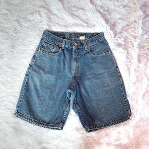 Levis RARE Blank Red tab 560 denim shorts 29